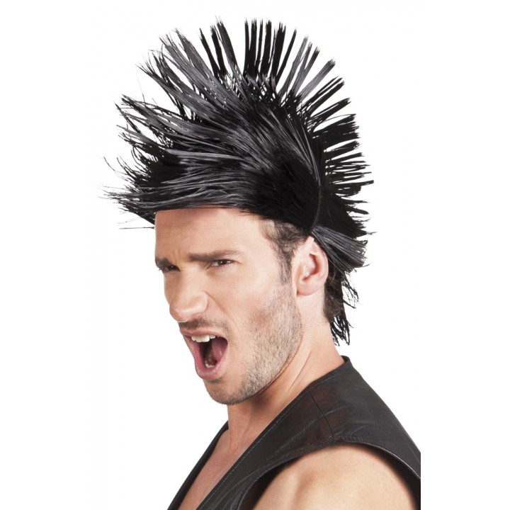 Perruque Spiky Mike brune