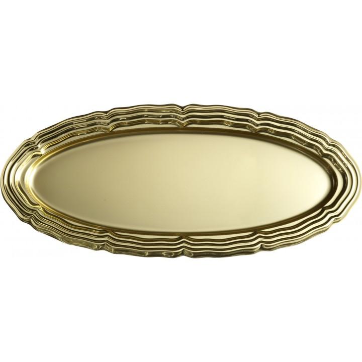 Plat ovale Or 58 x 30 x 5 cm en plastique