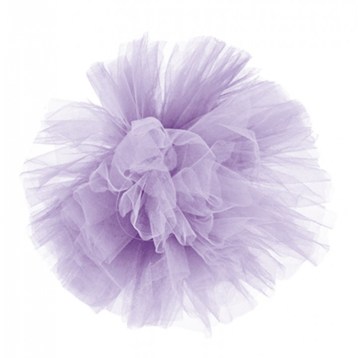 Pompon lilas en tulle 30 cm