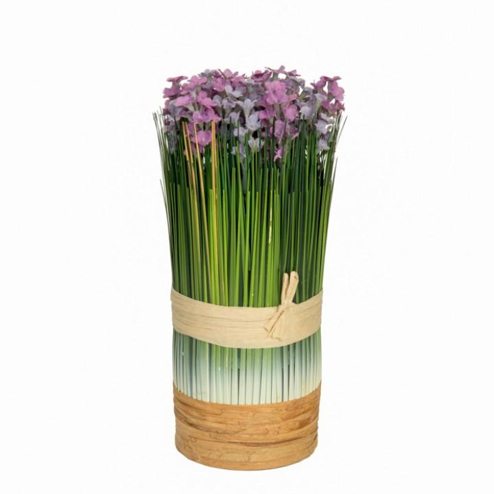 Pot de lavande violet clair 24 x 13 cm
