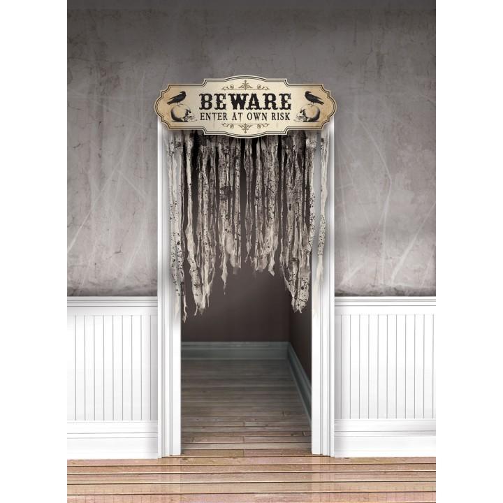 rideau de porte vaudou witch doctor halloween 1 40 x 1 m. Black Bedroom Furniture Sets. Home Design Ideas