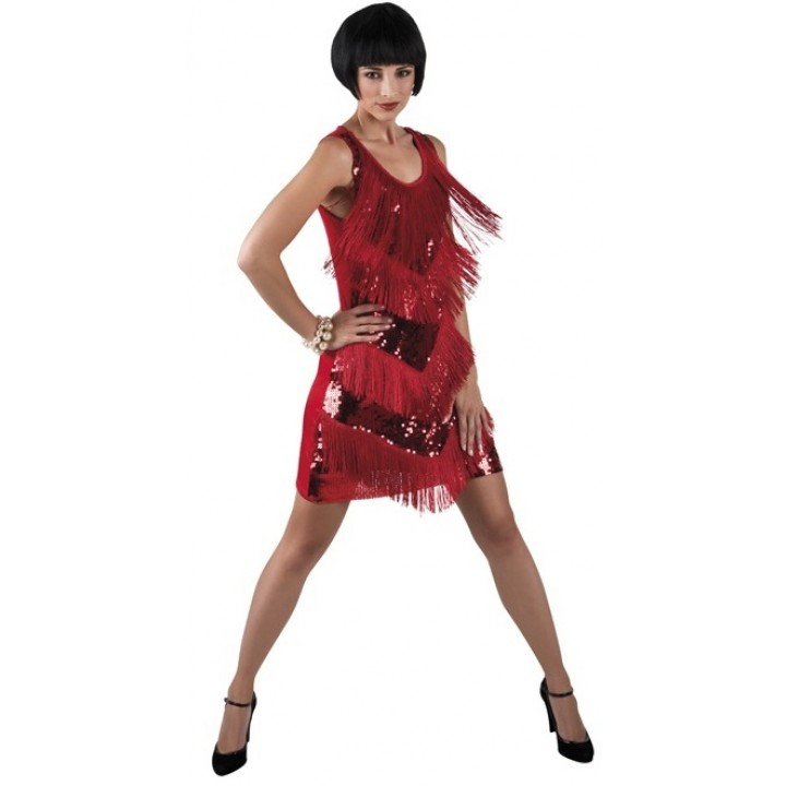 M Rouge Gatsby Robe Chicago Taille Charleston gbfyY76