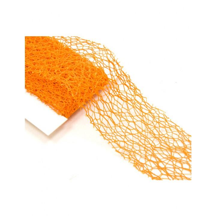 Rouleau de ruban déco orange  10 cm x 10 m