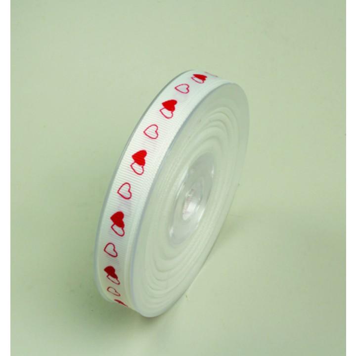Rouleau de ruban Linéa imprimé Cœurs 10 mm x 20 m