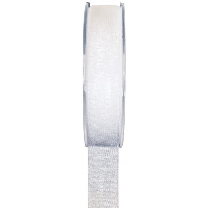 Rouleau de ruban organdi blanc 25 m