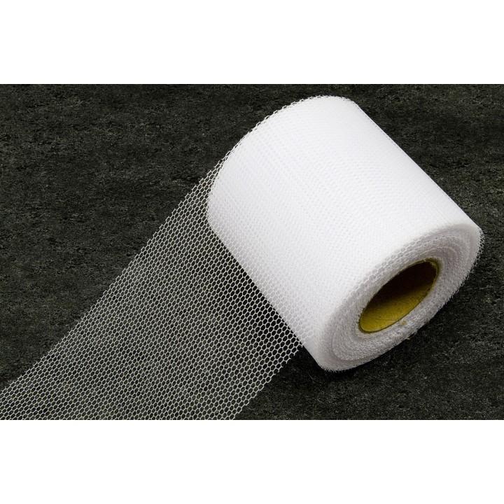 Rouleau de Tulle souple blanc  8 cm x 40 m