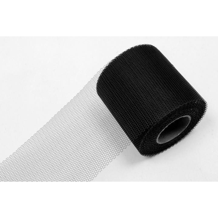 Rouleau de Tulle souple noir 8 cm x 40 m