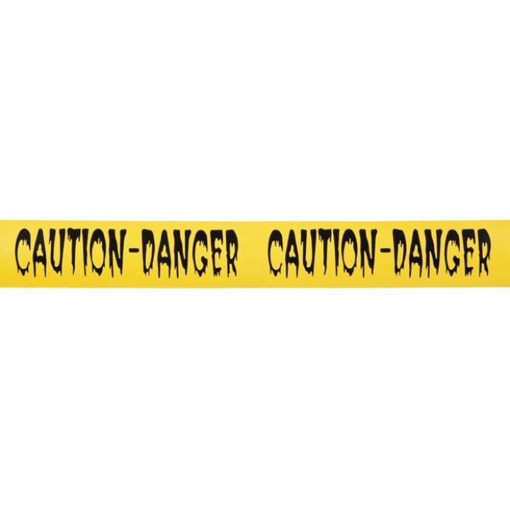 Ruban jaune danger halloween 10 m