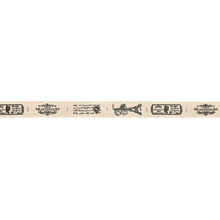 Ruban tissu Paris rétro adhésif 1 cm x 2 m