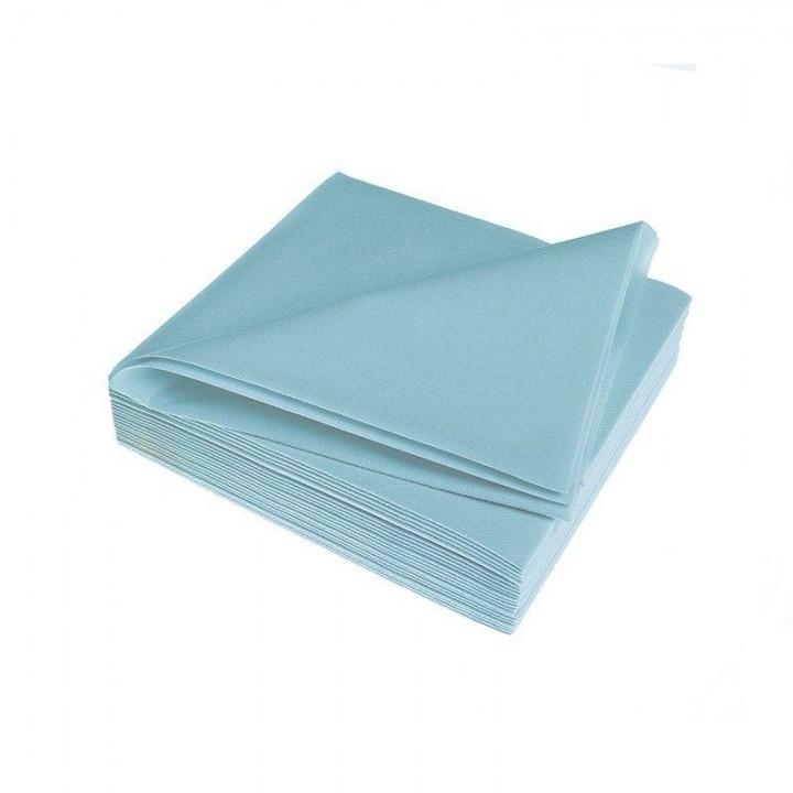 Serviettes bleu ciel épaisses en papier voie sèche AVA 40 x 40 cm