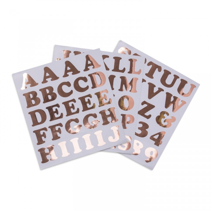 Stickers alphabet Rose gold