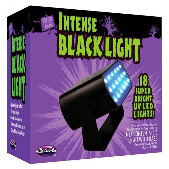 Stroboscope 18 leds noires 2 vitesses Halloween