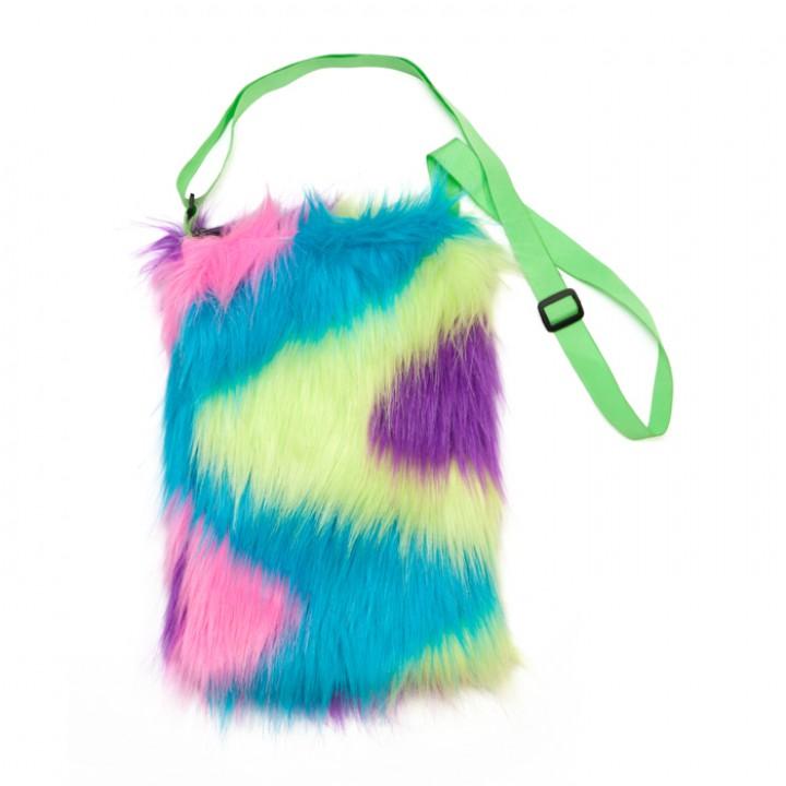 Sac Disco peluche multicolore