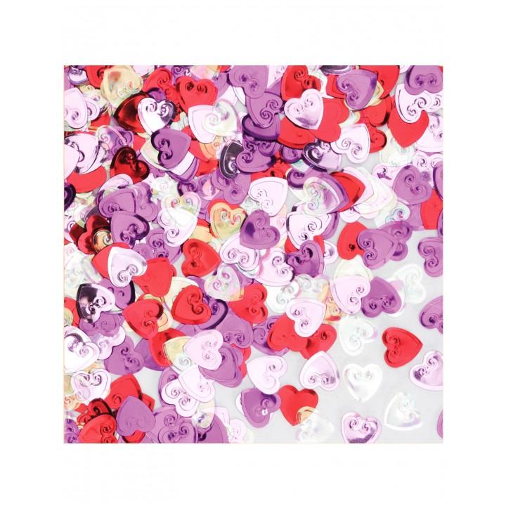 Sachet de Confettis de table Cœur rose découpé 14 gr