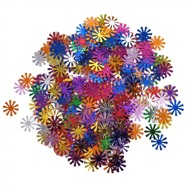 Sachet de Confettis de table Etoile  multicolore métallique 14 gr