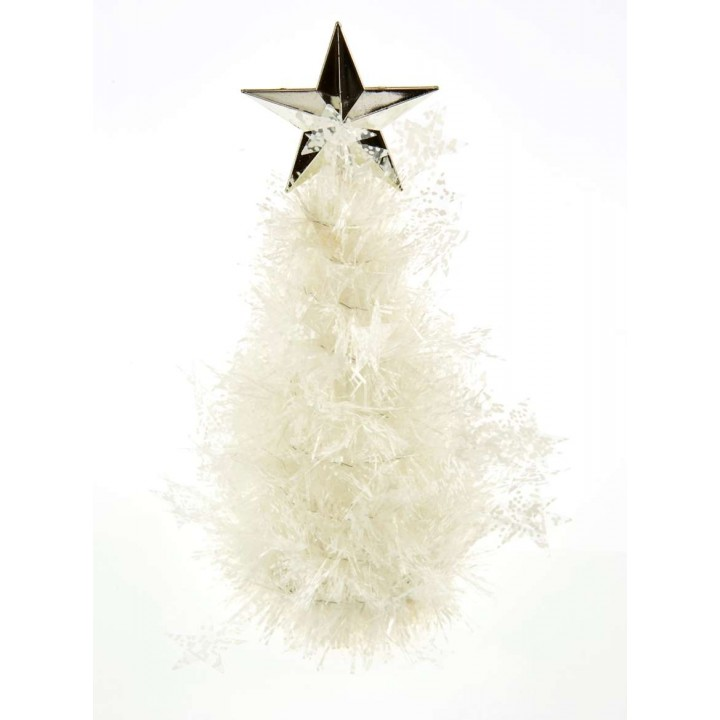 Sapin  Etoile blanc 20,5 cm