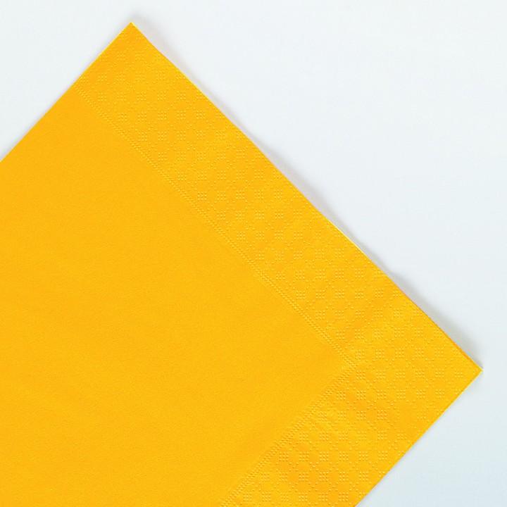 Serviettes jaune passion en papier ouate 2 plis 25 x 25 cm AVA