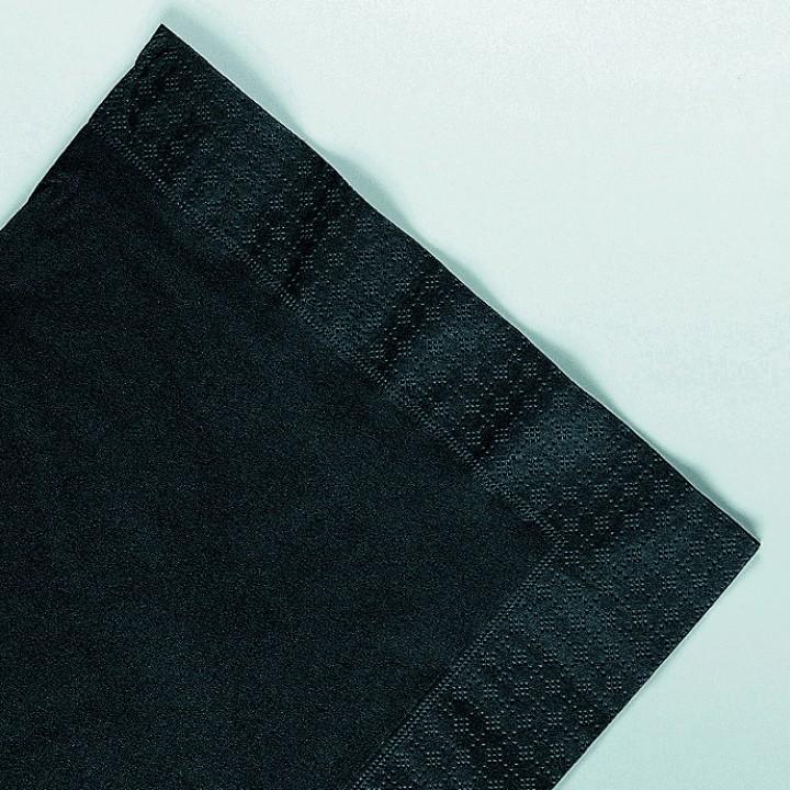 Serviettes papier ouate noires 2 plis AVA 40 x 40 cm