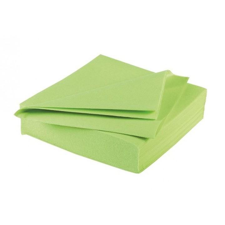 serviettes vert pomme paisses en papier v s che ava 40 x. Black Bedroom Furniture Sets. Home Design Ideas