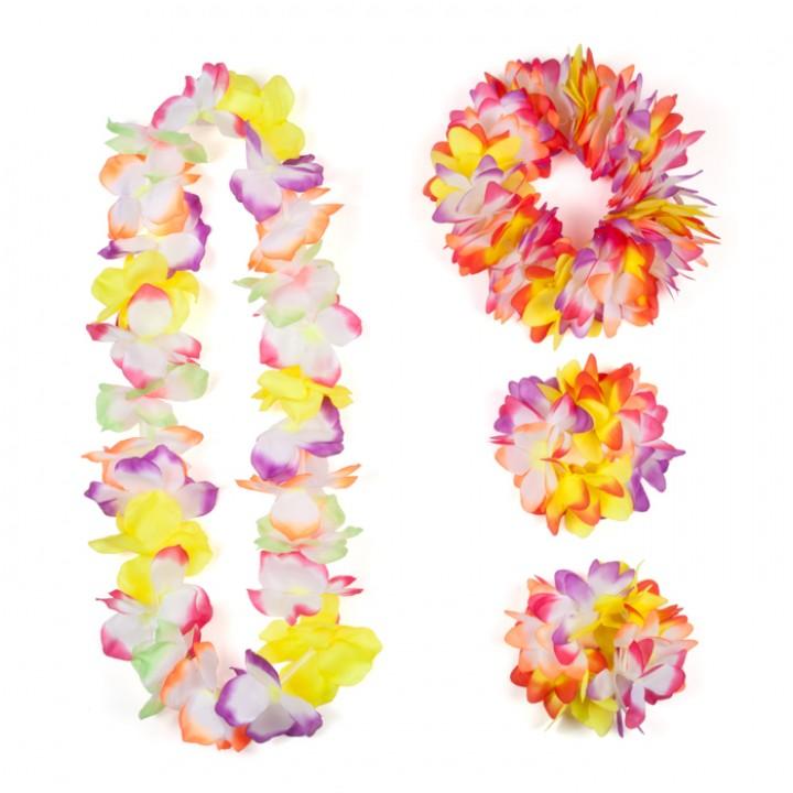 Set hawai multicolore