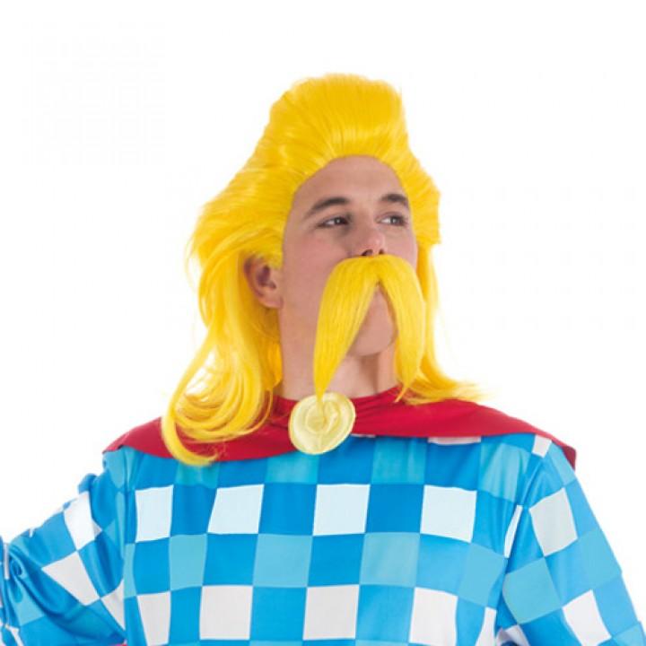 Set Perruque + Moustache Assurancetourix