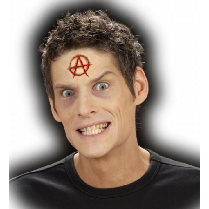 Symbole anarchie adhésif Halloween