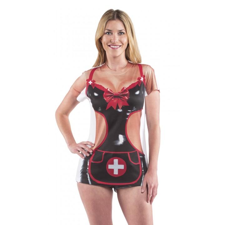 T-shirt infirmière sexy