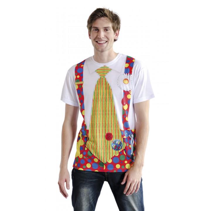 T-shirt photoréaliste Clown taille L