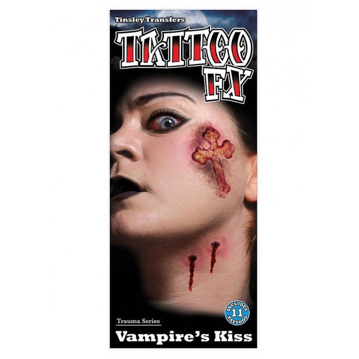 Taouage FX baiser du vampire Halloween