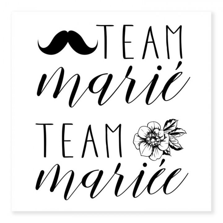 Tatouage Ephemere Team De La Mariee