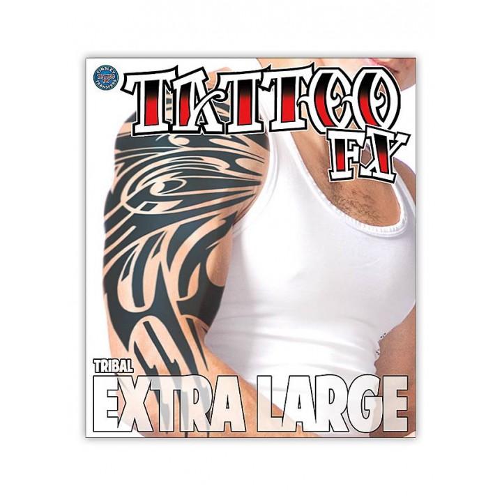 Tatouage tribal XL temporaire Halloween