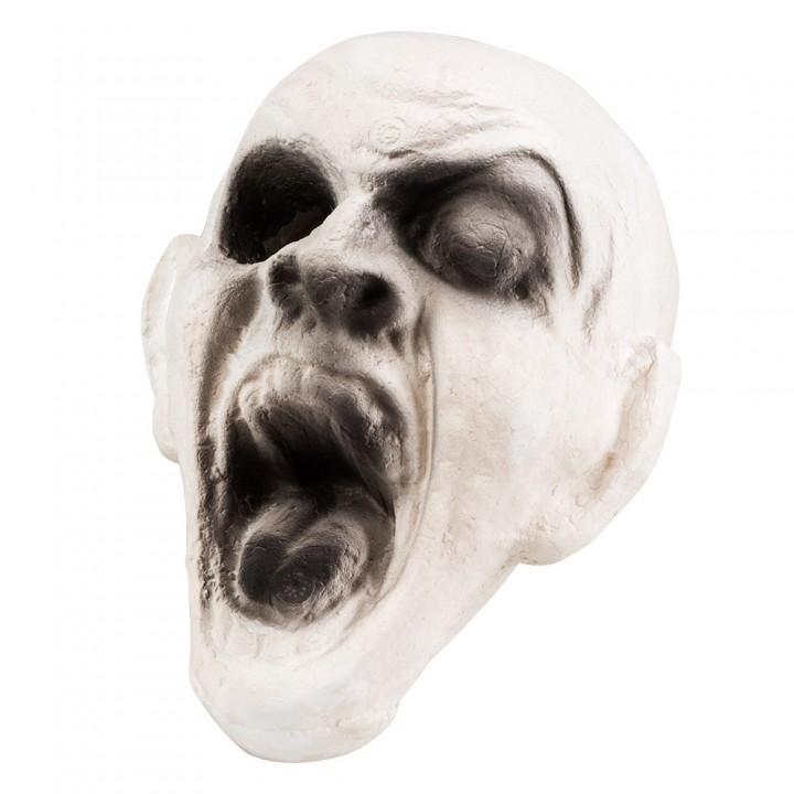 Tête de zombie 3 D Halloween  18 cm