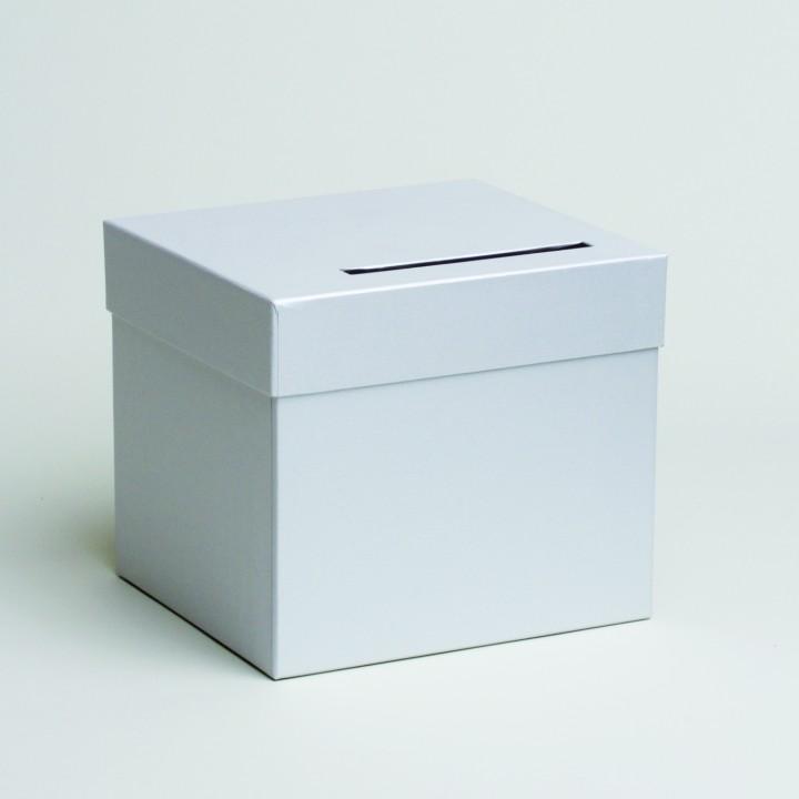 Urne cube en carton blanc