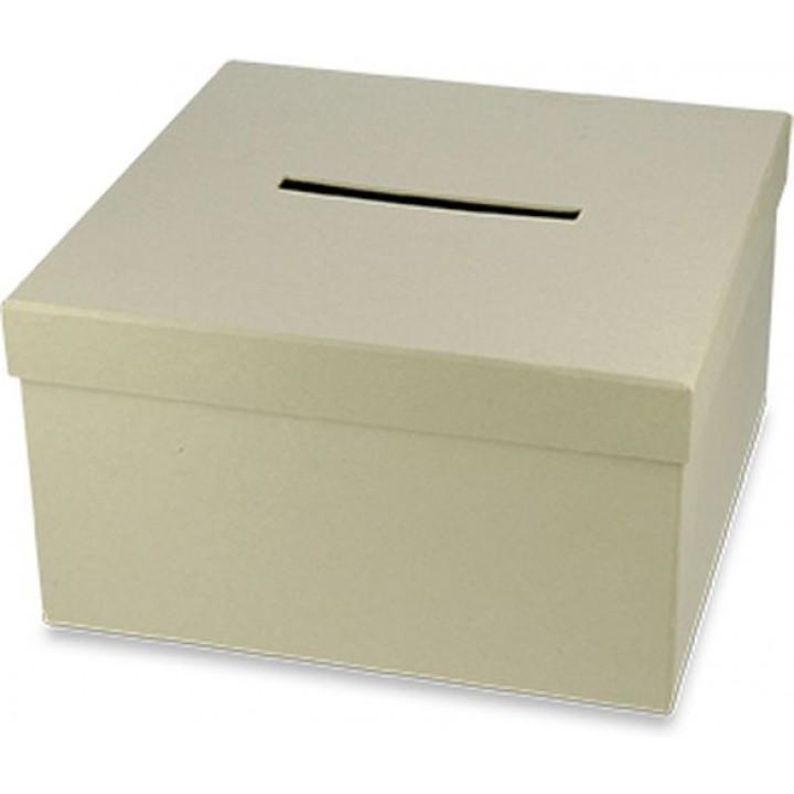 Urne kraft carrée 25 cm