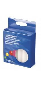 Bougies lampions blanches boîte de 12