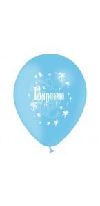 Lot de 10 ballons de baudruche en latex bleus Baptême D 30 cm