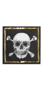 Lot de 12 serviettes en papier anniversaire pirate 33 x 33 cm