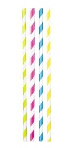 Lot de 20 pailles en carton multicolores