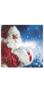 Lot de 20 serviettes papier Père Noël 33 x 33 cm