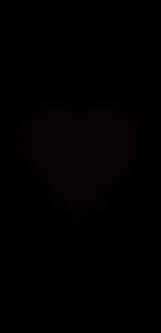 Lot de 3 ballons de baudruche Cœur en latex Blanc 44 cm