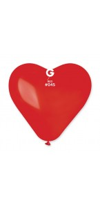Lot de 3 ballons de baudruche Cœur en latex Rouge 44 cm