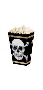 Lot de 4 Boîtes à Pop corn anniversaire Pirate