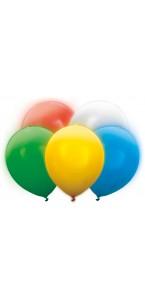 Lot de 5 ballons latex led multicolore 30 cm