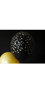Lot de 6 ballons chauve-souris Halloween 30 cm