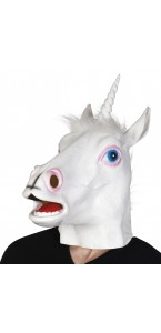 Masque licorne en latex