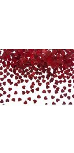 Confettis cœur rouges 5mm 30 gr