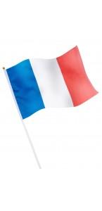 Drapeau Coq tricolore avec tige FFF Coupe du Monde 2018 30x 45 cm