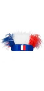 Bandeau perruque tricolore FFF Coupe du Monde 2018