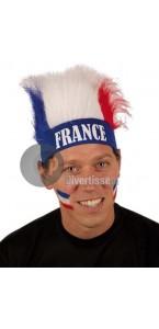 Perruque bleue avec bandeau France