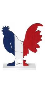 Coq France en bois 12 x 18 x 0,5 cm